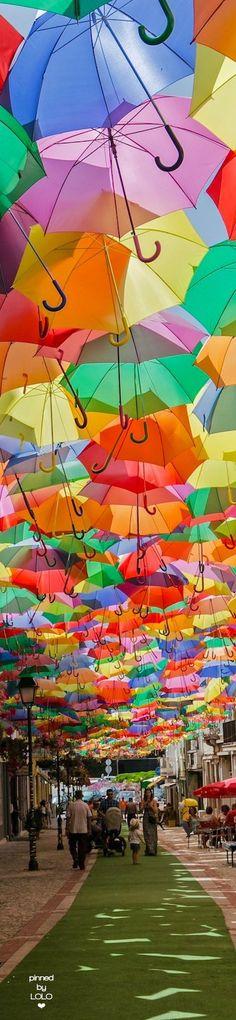 Águeda's Umbrella Sky Project... Portugal