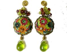 Spring saledangle earringsdrop earringsbeadwork by artemisartbiju, €45.00