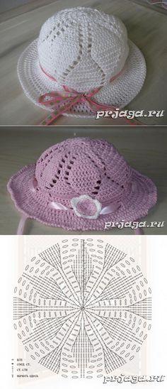 Knitted hats hook scheme