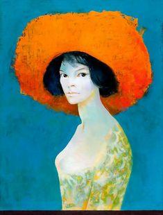 Autoritratto col cappello rosso, 1968