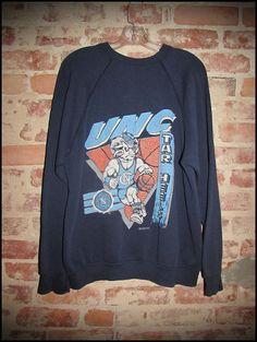 Vintage 90's UNC North Carolina Tarheels Basketball Crewneck Sweatshirt by RackRaidersVintage, $22.00