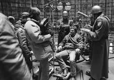 Terry Gilliam while filming Brazil