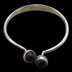 Bent Knudsen Silver and Amethyst Bangle