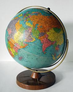 1950s Replogle Globe 12 inch Vintage Reference by CalloohCallay