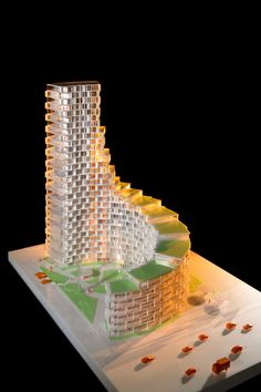 3XN Designs Affordable Housing Tower in Denmark,Courtesy of Adam Mørk/3XN