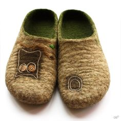 OOAK felted slippers Forest Story ECO ♡ by Onstail on Etsy