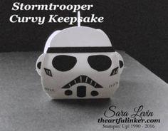 Star Wars Stormtrooper Curvy Keepsake Box from theartfulinker.com