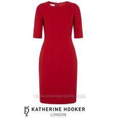 KATHERINE HOOKER Ascot Red Dress worn by Duchess Catherine of Cambridge