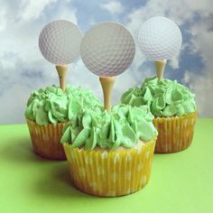 Golf Themed Cupcakes for CupCake FabuLous. www.CupCakeFabuLous.com