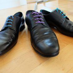 Loco!Laces: runde, bunte, gewachste Schnürsenkel für Herren Business Schuhe