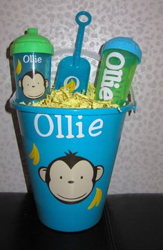 Personalized Sand Bucket & Sippy Cups $10