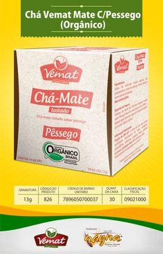Chá Vemat Mate com Pêssego Orgânico 13gr