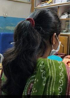 Long Ponytail Hairstyles, Long Hair Ponytail, Long Ponytails, Braids For Long Hair, Indian Hairstyles, Long Silky Hair, Thick Hair, Long Indian Hair, Desi Girl Image