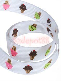 I love the cute Ice-cream cones on this grosgrain ribbon.