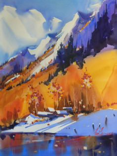 Frank Francese, NWS, is a signature member of multiple professional watercolor organizations and has earned more than fifty awards over the past four decades. Watercolor Negative Painting, Watercolor Landscape Paintings, Watercolor Flowers, Oil Paintings, American Realism, Mountain Images, Urban Sketching, Van Gogh, Impressionism