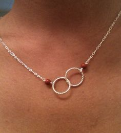 trinity, Trinity necklace, Two loop necklace, Infinity necklace, sterling silver, handcrafted necklace on Etsy, $19.99