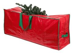 "Christmas Tree Storage Bag - 48"" x 15"" x 20"" - Roomy, zippered bag with 2 reinforced handles stores a 4-foot disassembled"