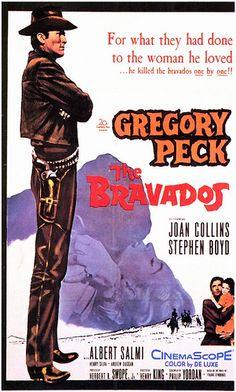 5/29/14  12:42p   20th Century-Fox  ''The Bravados'' Gregory Peck Stephen Boyd Joan Collins   Albert Salmi Henry Silva   Released: 6/25/1958  fickr.com