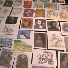 Postcards of pre-sightloss #art by @blind_art
