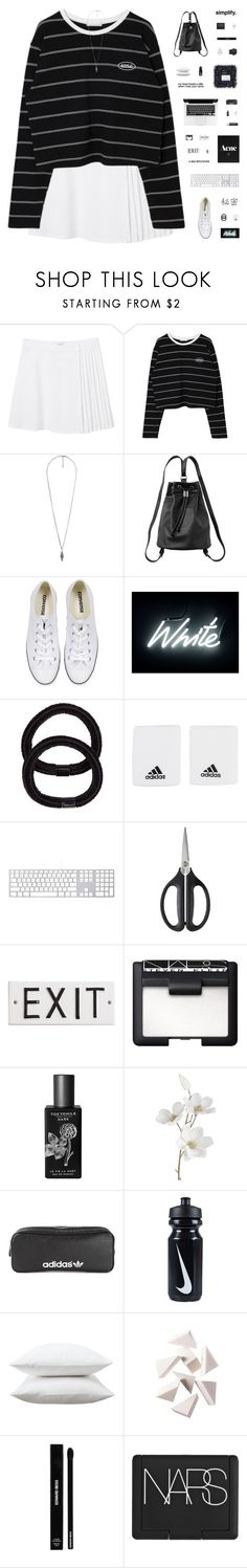 """HI HELLO"" by c-hristinep ❤ liked on Polyvore featuring Monki, Forever 21, Converse, Seletti, John Lewis, adidas, OXO, Rosanna, NARS Cosmetics and Chapstick"