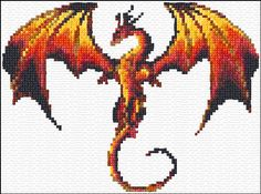 Free Dragon Cross Stitch Pattern