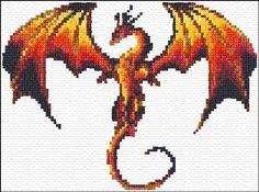 Free Dragon Cross Stitch Pattern