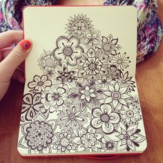 I think I might have an addiction to drawing flowers. Drawn with microns in a x moleskine sketchbook. Zentangle Drawings, Doodles Zentangles, Zentangle Patterns, Doodle Drawings, Mandala Doodle, Zen Doodle, Doodle Art, Doodle Images, Doodle Inspiration
