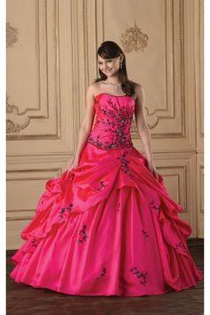Fancy Taffeta Floor-length Sleeveless Ball Gown Strapless Wedding Dresses