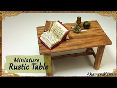 Rustic Miniature Table - Simple Wood Tutorial - YouTube