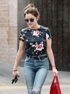 Lucy Hale in Jeans  Shopping in Larchmont Village Neighborhood in LA Sep-2016 Celebstills L Lucy Hale