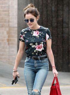 Lucy Hale in Jeans Shopping in Larchmont Village Neighborhood in LA Sep-2016 Celebstills L Lucy Hale