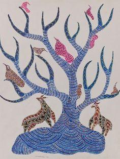 Folk And Tribal Art Auction -Feb 26-27, 2013 -Lot 8 -Jangarh Singh Shyam, Gond Art