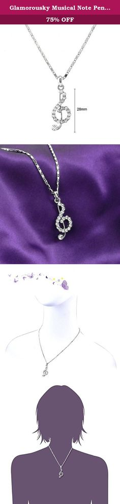 Glamorousky Musical Note Pendant with Silver Austrian Element Crystals and Necklace (3645). About Glamorousky Indulge yourself with glamorous fashion jewelry! Glamorousky boasts of numerous elegant necklaces, pendants, earrings, bangles, bracelets, air accessories, brooches in various designs to choose from. Jewelry brand ''Glamorousky'' succinctly sums up its collections. The various collections of Glamorousky offer exquisite beauty, a wide selection and accessible price points that…