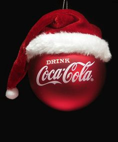 This Coca-Cola Santa Hat Ornament by Coca-Cola is perfect! #zulilyfinds