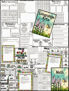 Plants: Language Arts Printables & Math Stations/Printables