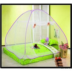 If you are just avoiding mosquito nets canopy then bring home medicated foldable mosquito net. This pop up mosquito net will not only help you to keep safe from mosquitoes but also keep you healthy.
