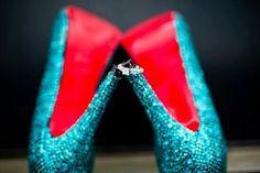 Tiffany Blue #Swarovski #Crystal #Heels $366.00