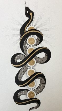 Serpent of kundalini,spiritual energy rises up (the spinet) and through the chakras