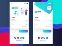 Daily Ui - Login designed by Nithinraj Shetty. Login Page Design, App Ui Design, Interface Design, Web Design, Android App Design, Android Ui, App Login, Sports App, App Design Inspiration