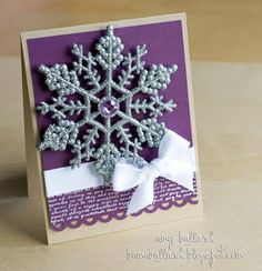 Snowflake Card by Amy Ballard (wait...that's ME!)  Just found my OWN card on pinterest!!  Thanks Papercraft Mag!  :)