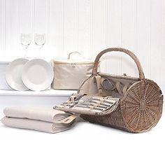 Harrington Wicker Barrel 2 Person Picnic Basket Hamper with Cream Fleece Picnic Blanket & Zipped Chiller Bag by Fine Food Store, http://www.amazon.co.uk/dp/B00CQMP9QK/ref=cm_sw_r_pi_dp_1fVfub1KT5QR0