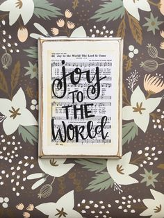Hey, I found this really awesome Etsy listing at https://www.etsy.com/listing/467884561/joy-to-the-world-hymn-board-hand