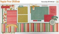 20% OFF TODAY Pre-made Scrapbook Page Layout 2 by ArtsyAlbums