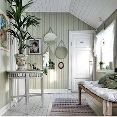🌟Tante S!fr@ loves this📌🌟 Greige, Painted Wood Walls, Welcome To My House, Piece A Vivre, Beautiful Interior Design, Scandinavian Home, Cabana, Home Decor Inspiration, My Dream Home