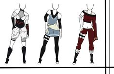 Adoptables-Outfit Set 12 CLOSED by HardyDytonia.deviantart.com on @DeviantArt