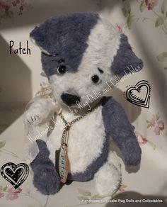 Patch, 8 inch mohair Puppy https://www.facebook.com/HandmadeKeepsakeRagDolls