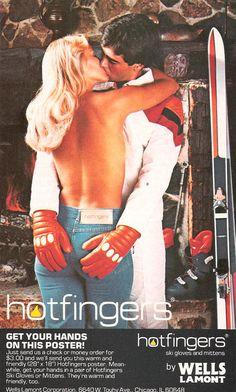 70s 80s 1977 Hotfingers ski gloves Ad Skiing Magazine Dec