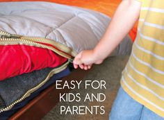 KIDS- MAKE YOUR BEDS IN ONE ZIP!!! (stop kicking off covers & stop falling out of bed.) BONUS: They are WATERPROOF for accidents.