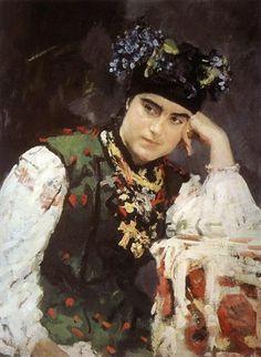 Валентин Серов Портрет С.М.Драгомировой-Лукомской 1889 реализм