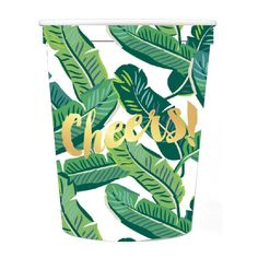 Palm Leaf Cheers Stadium Cups